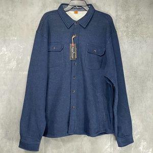 Tailor Vintage Navy Heather Fleece Lined Button Do